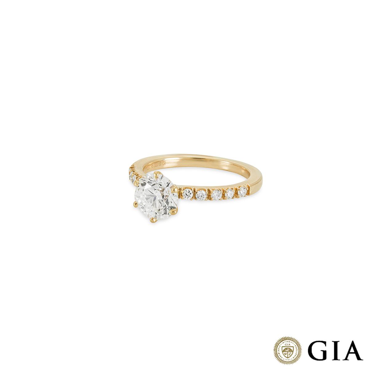 18k White Gold Round Brilliant Cut Diamond Ring 1.57ct G/VS2